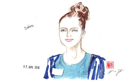 Liveportraits an der Künstlerbörse Thun