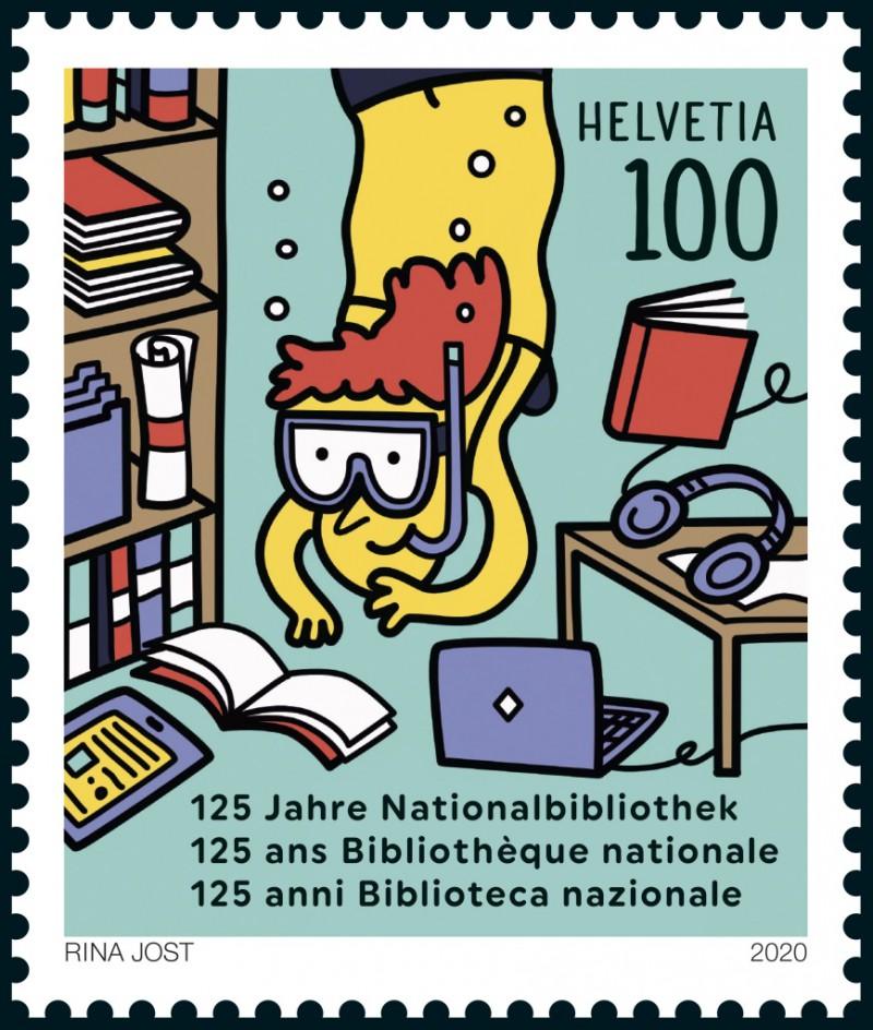 Rina Jost: Erste animierte Briefmarke der Schweiz